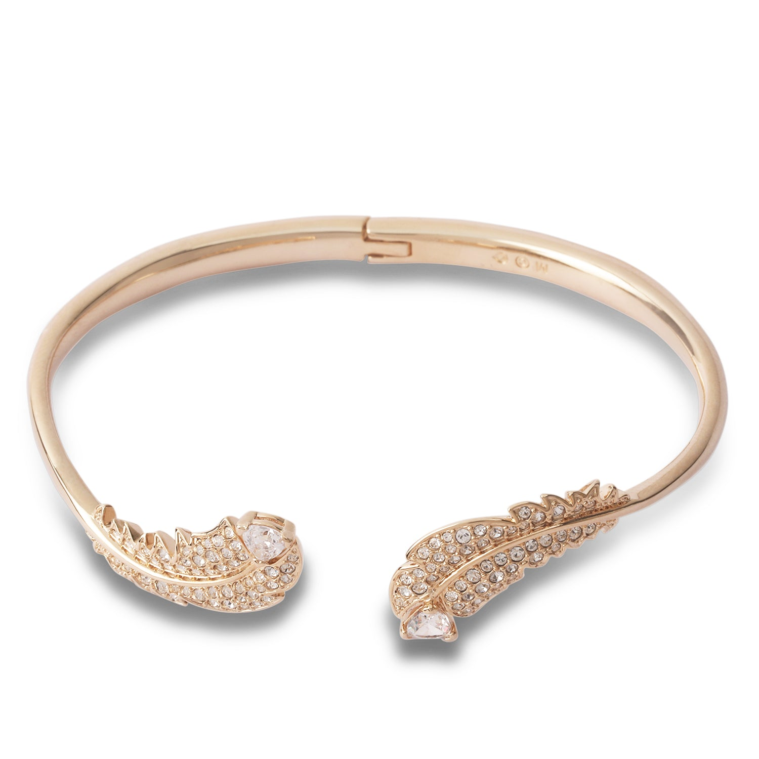 swarovski nice feather bangle | shop online at galleriadilux.com