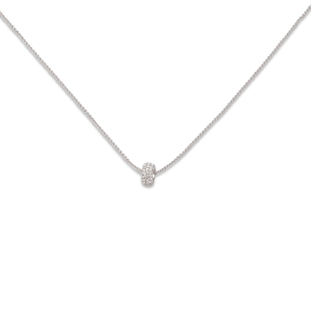 swarovski stone round pendant necklace | shop online at galleriadilux.com