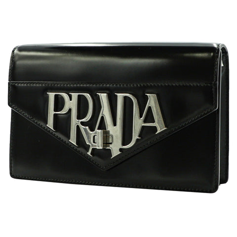 SPAZZOLATO BLACK CROSSBODY BAG