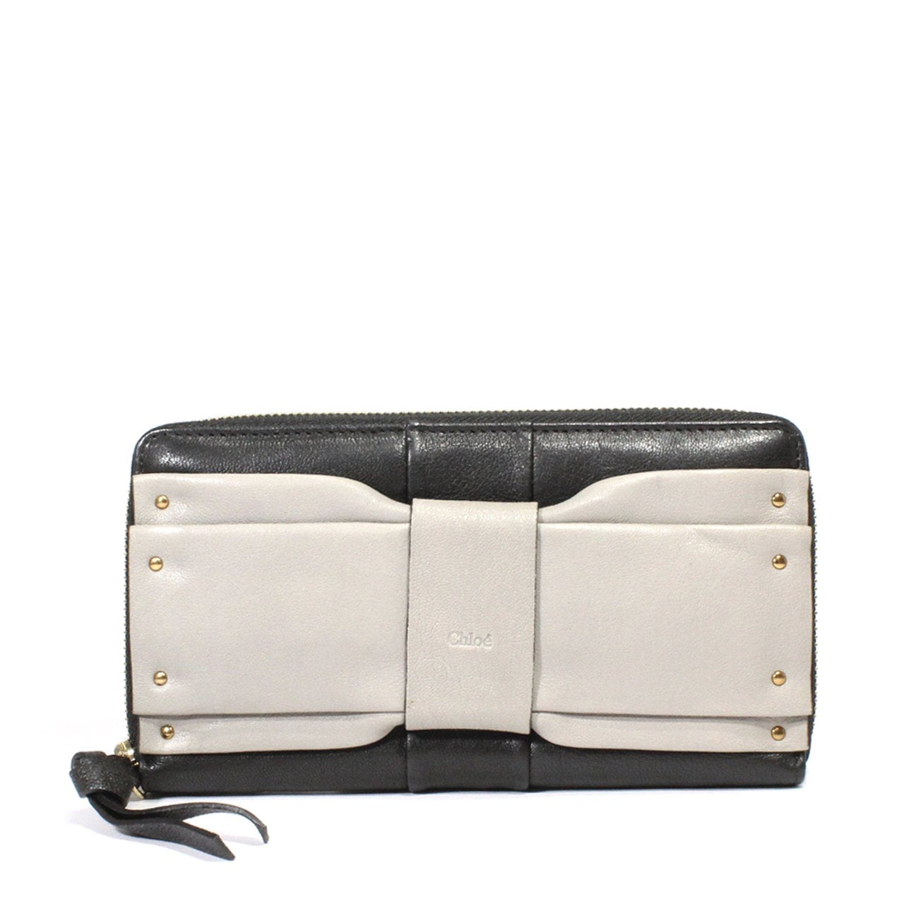 Chloe June Bow-Embellished Long Folio Wallet