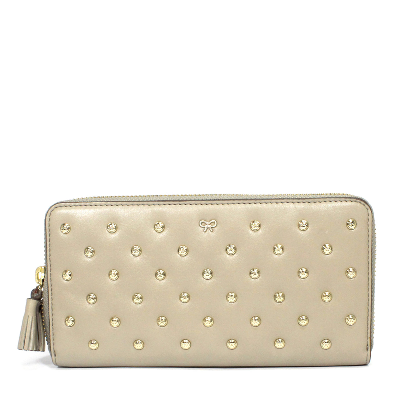 Anya Hindmarch Joss Heart-Studded Leather Wallet