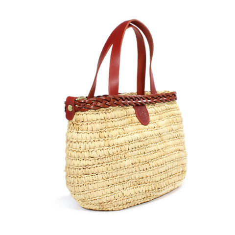 Il Bisonte Straw And Leather Hand Woven Shoulder Bag