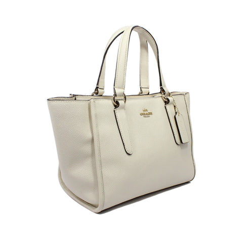 Coach Mini Crosby Carryall Satchel In Chalk Crossgrain Leather