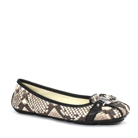 Michael Kors Fulton Ballerina Shoes In Snake Print