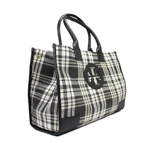 Tory Burch Mini Ella Plaid Tote