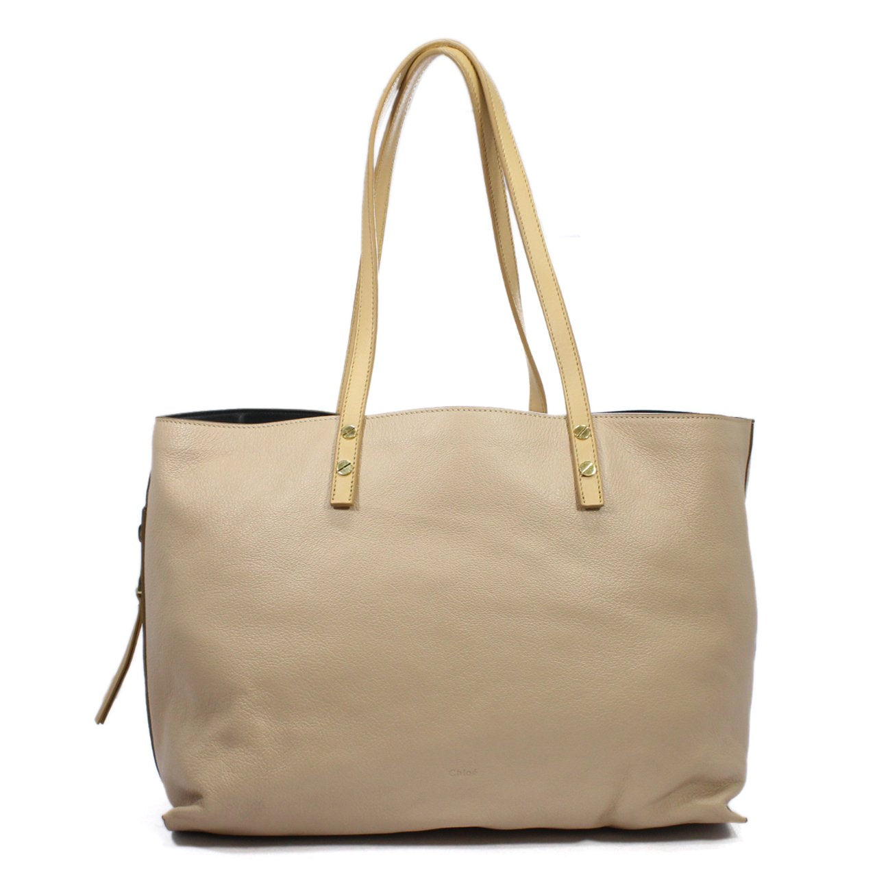 Chloe Dilan Lambskin Leather Coated Tote Bag
