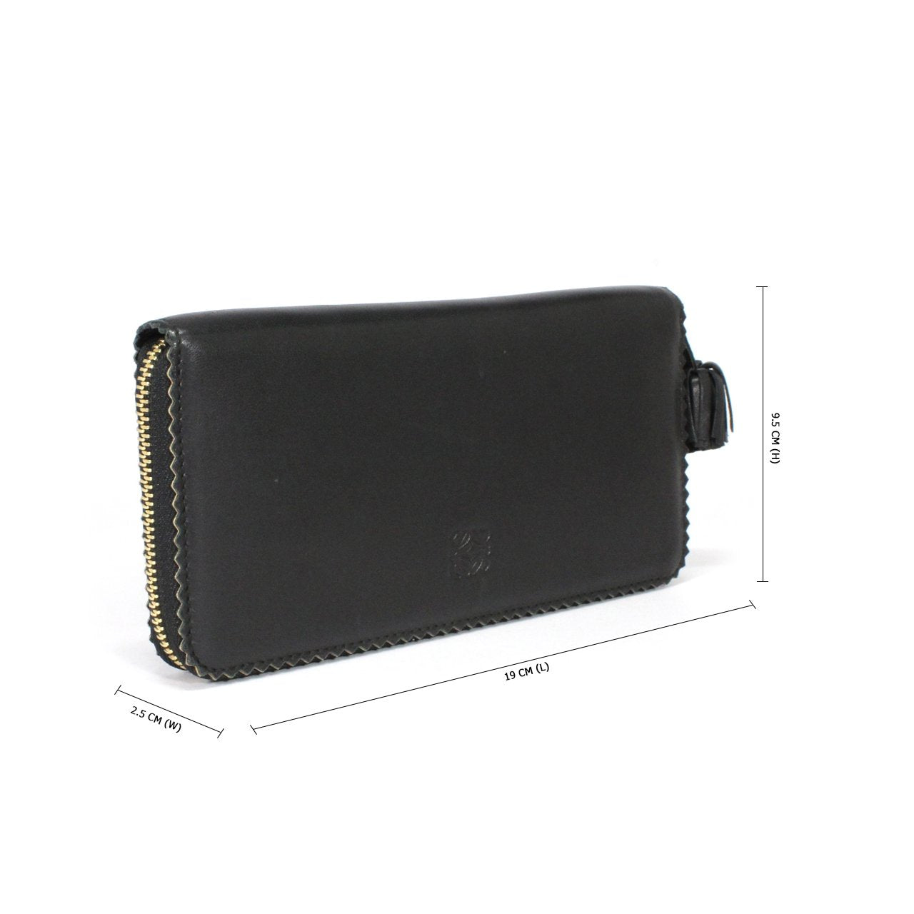 Loewe Large Black Zip Around Wallet