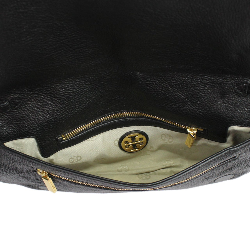 Tory Burch Amanda Black Dual Purpose Logo Clutch Bag