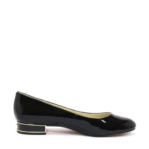 Michael Kors Women's Joy Patent Kitten Pump Round Toe Flats
