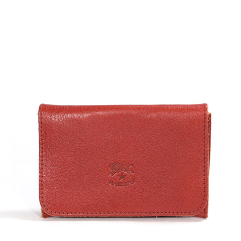 Il Bisonte Fold Over Leather Wallet