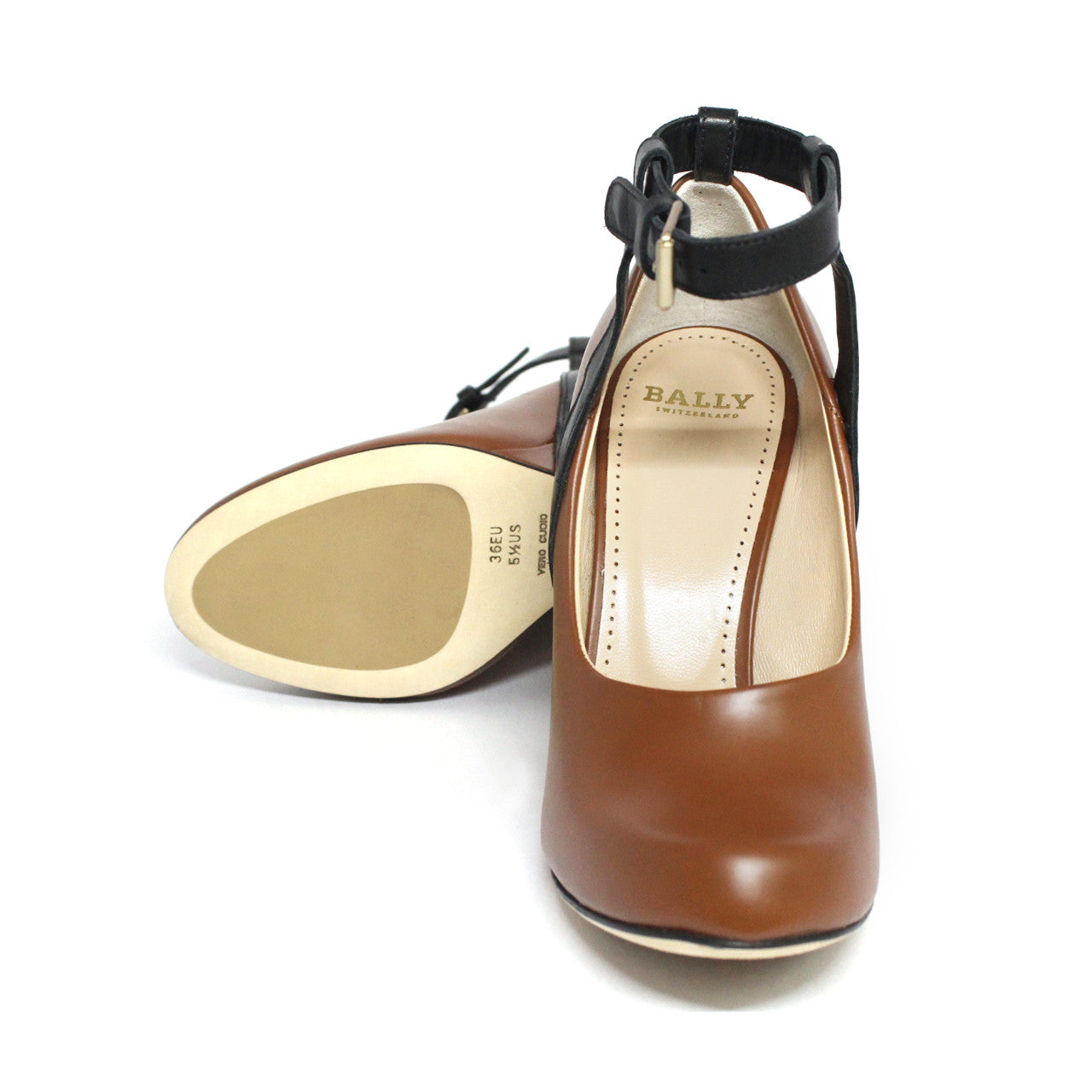 Bally Deodara Women's Wedge Platform Heels With Ankle Whisky Strap