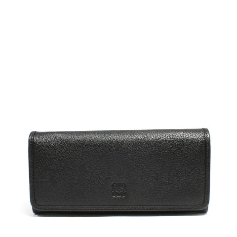 Loewe Continental Snap Open Wallet In Cross-Grain Leather