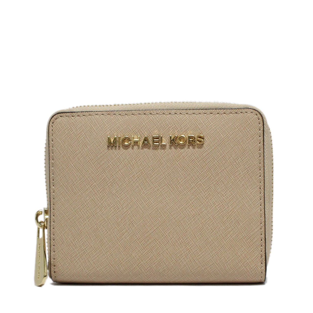 Michael Kors Jet Set Travel Zip-Around Saffiano Leather Wallet