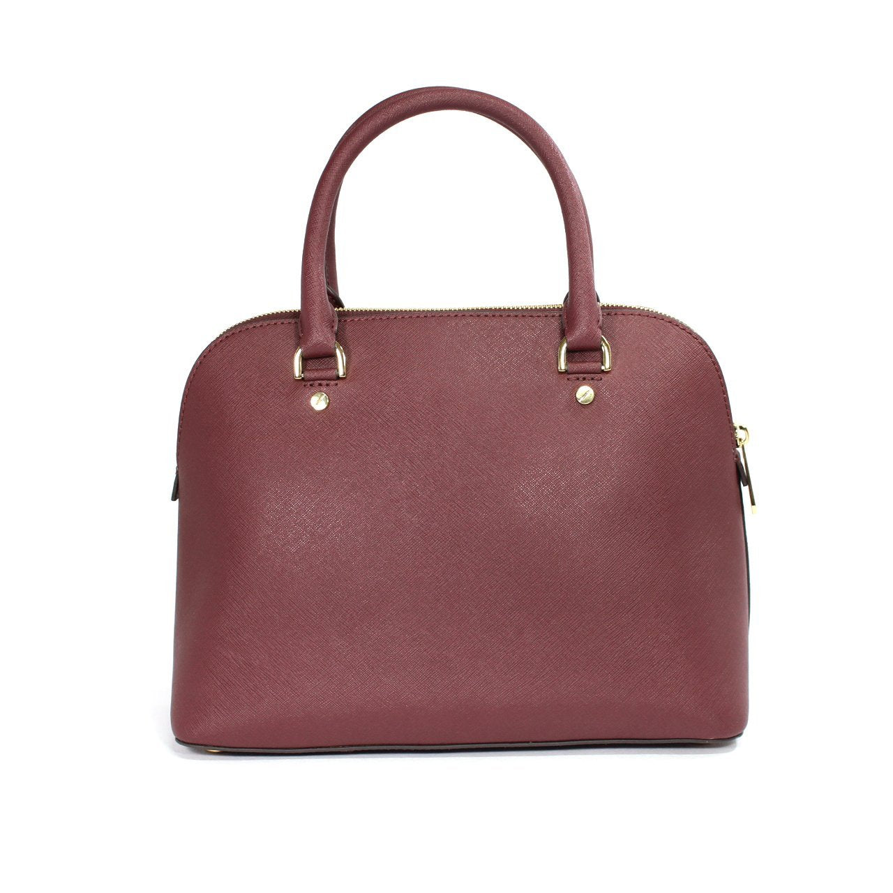 Michael Kors Cindy Dome Merlot Satchel Bag