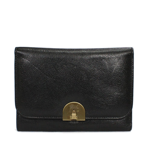Il Bisonte Tri-Fold Thin Folio Wallet