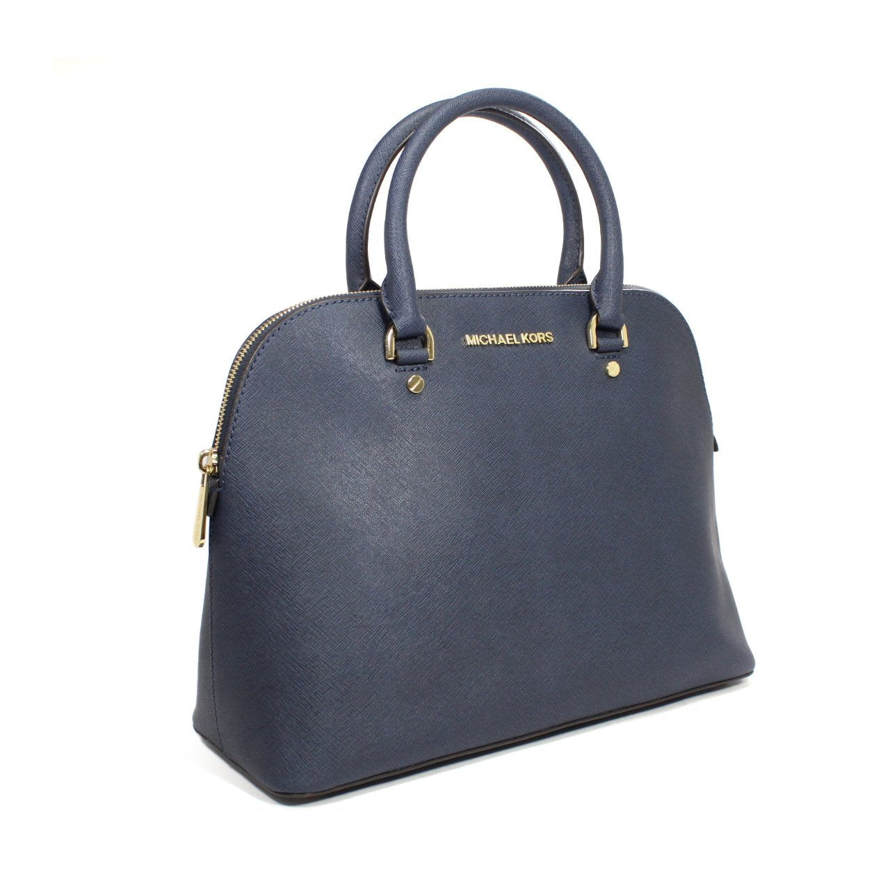 Michael Kors Cindy Dome Navy Satchel Bag