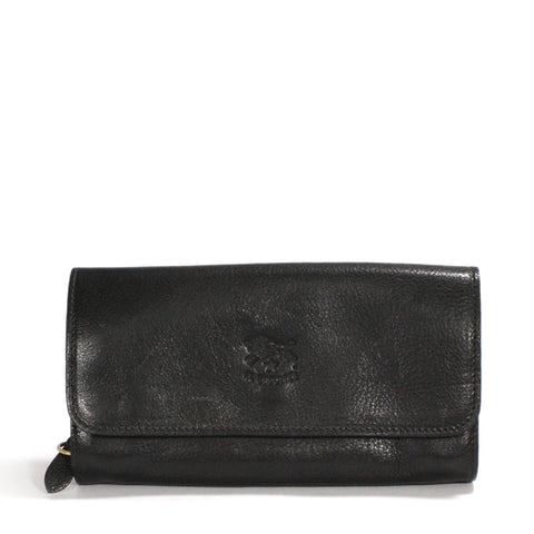 Il Bisonte Leather Fold Over Wallet Purse