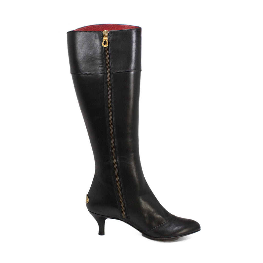 1f2cb8c1d9607 Bally Gianola Women's Knee-High Kitten Black Heel Boots-Online India ...