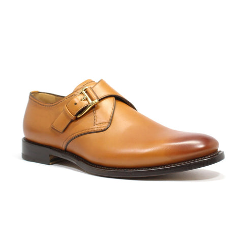 Bally Otis Men's Monkstrap Shoes In Gradient Calfskin Leather