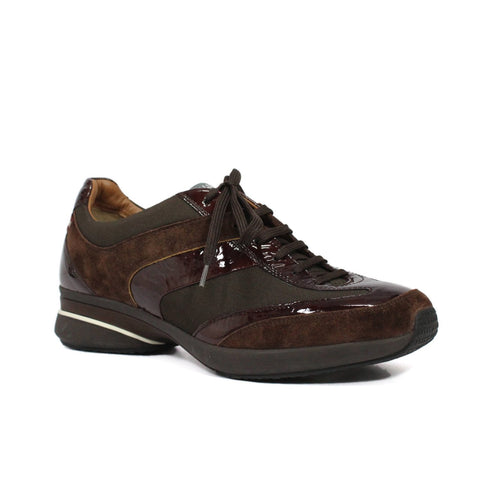 Bally Ardmore Women's Lace Up Trainers In Espresso Brown