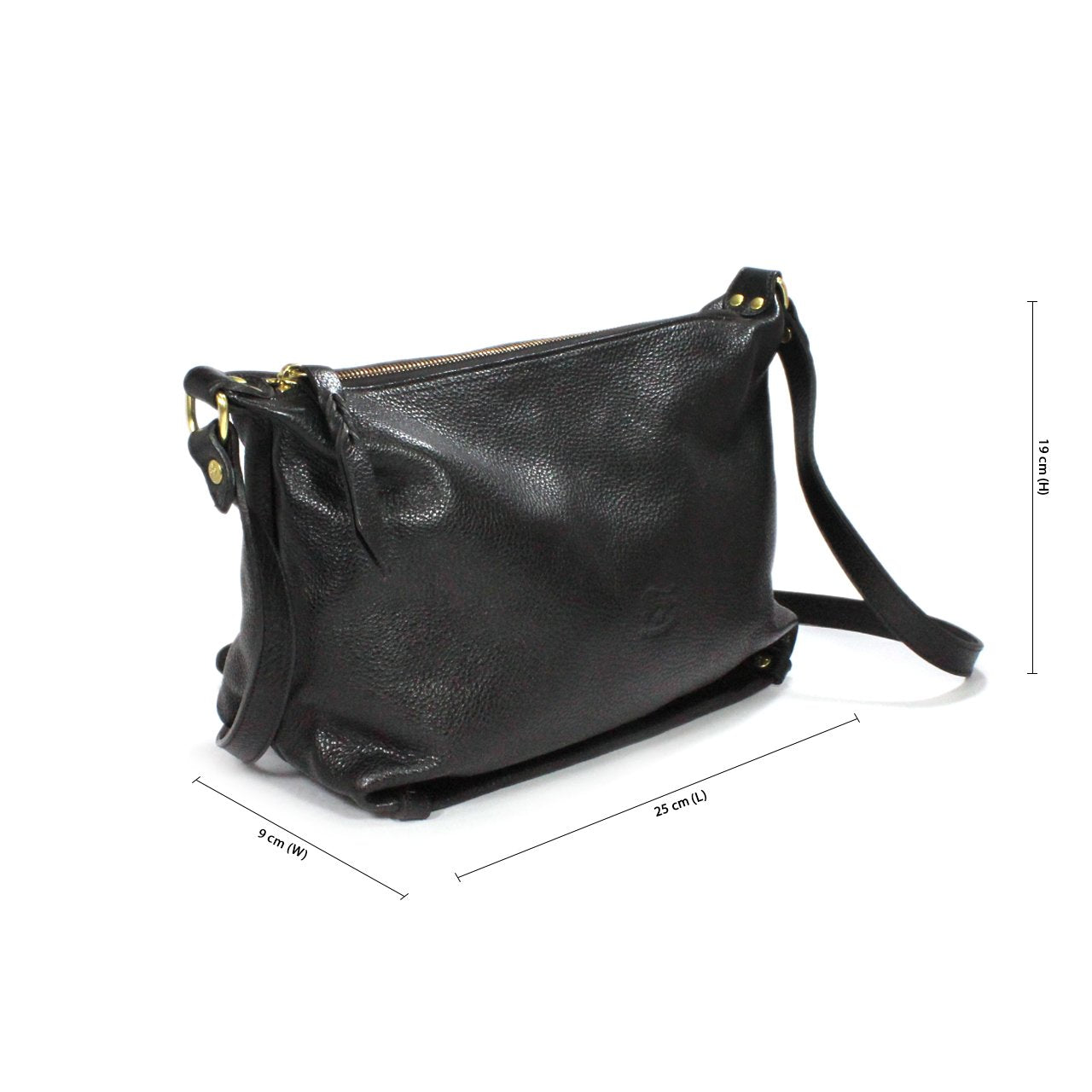 Il Bisonte Leather Square Shoulder Bag