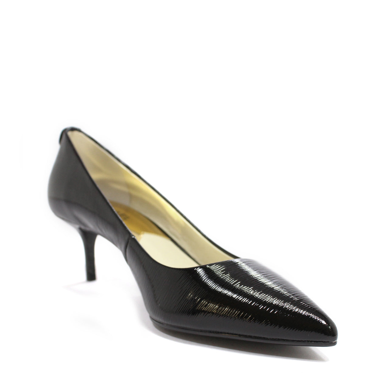 Michael Kors Flex Patent Mid-Heel Kitten Pumps