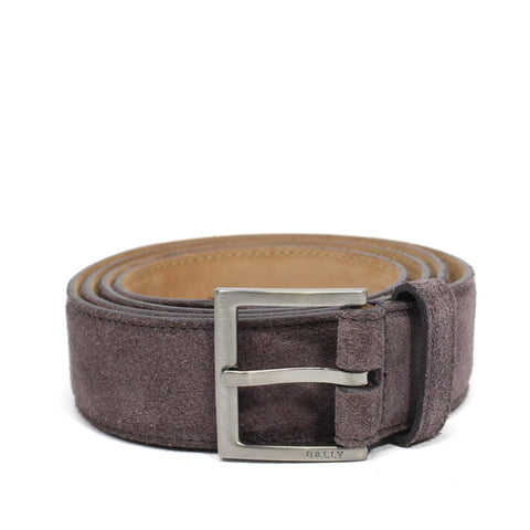 Bally Coder Men's Adjustable Waist Belt In Suede Leather