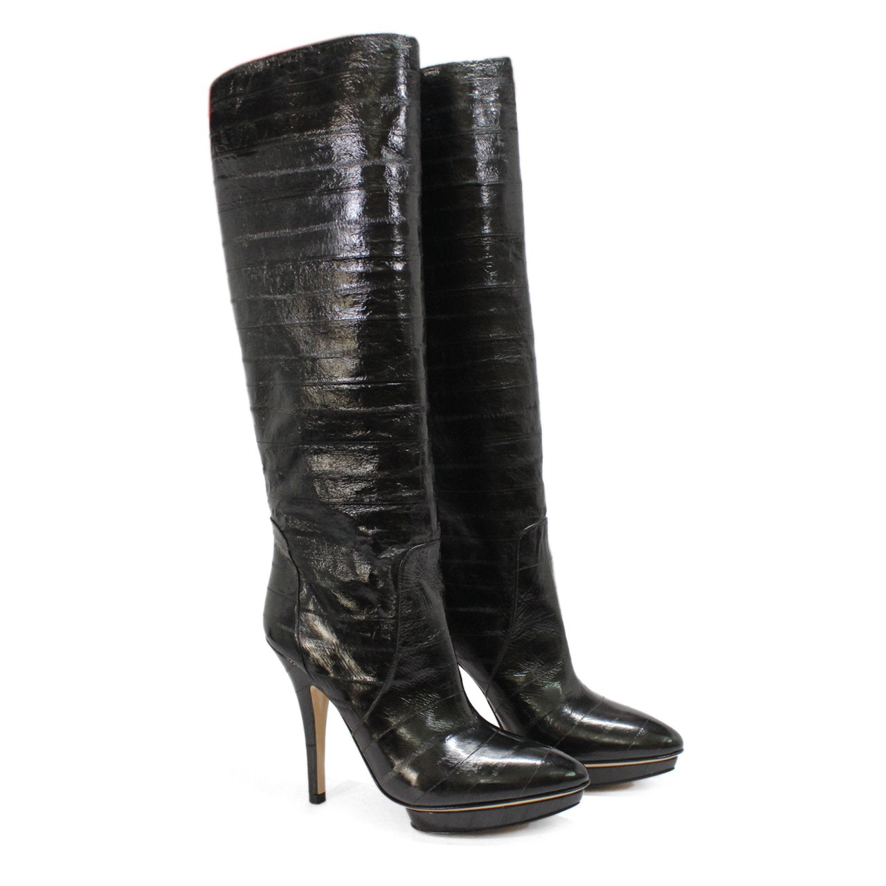 Bally Suana Women's Knee-High Platform Stiletto Heel Boots