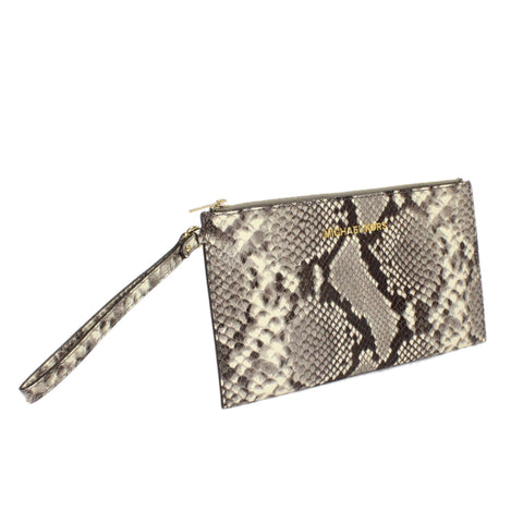 Michael Kors Bedford Embossed Leather Clutch