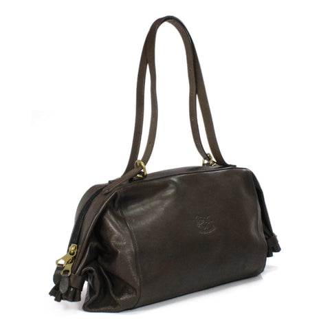 Il Bisonte Leather Square Expandable Shoulder Bag