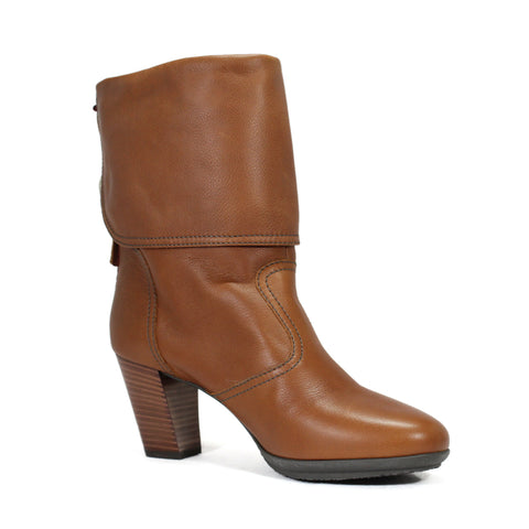 Bally Tokie Women's Block Heel Calf Whisky Boots