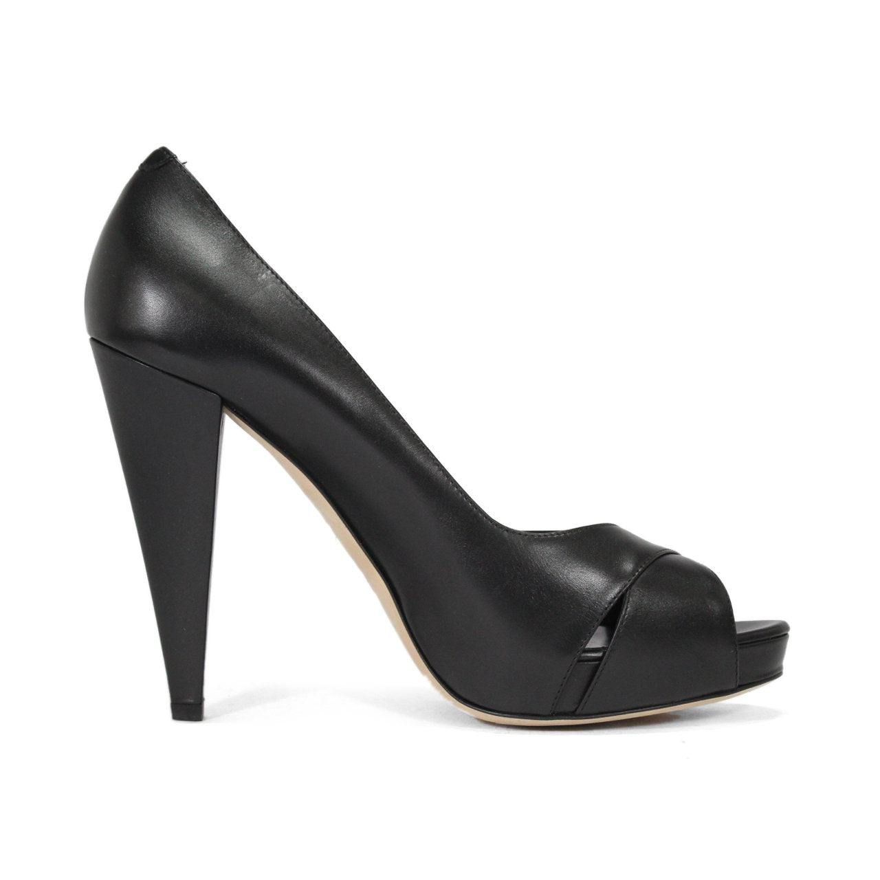 Bally Epira Peep-Toe Black Pumps