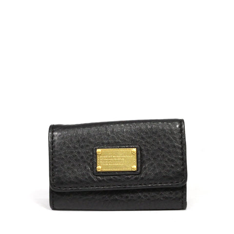 Marc by Marc Jacobs Black Classic Q Textured Leather Key Case