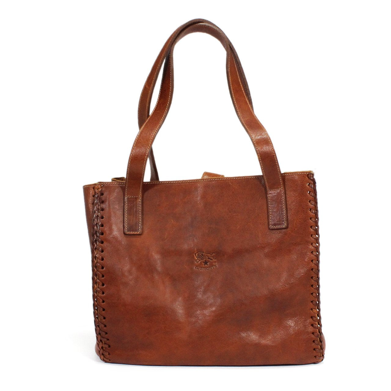 Il Bisonte Shopping Tote With Spiral Stitch Detailing