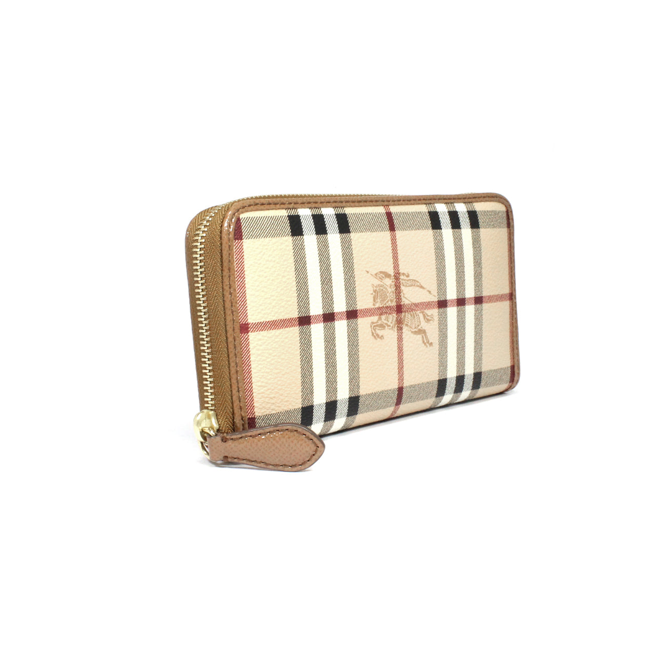 Burberry Haymarket Ziggy Zip Around Wallet