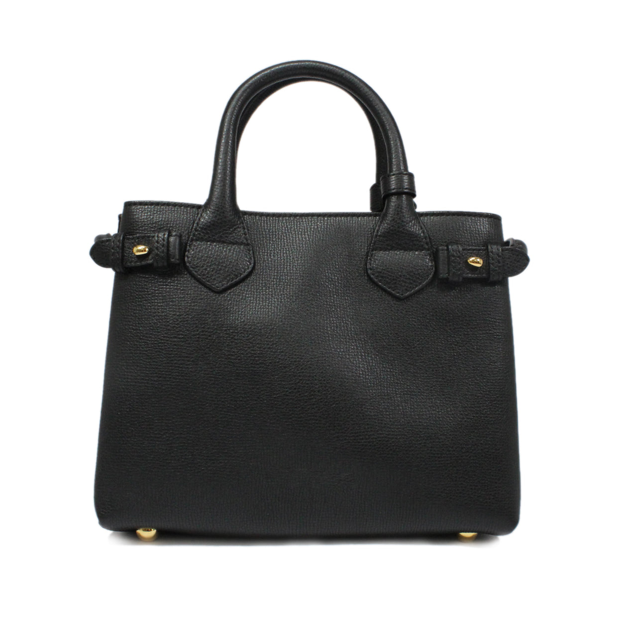 Burberry Banner House-Check Leather Tote