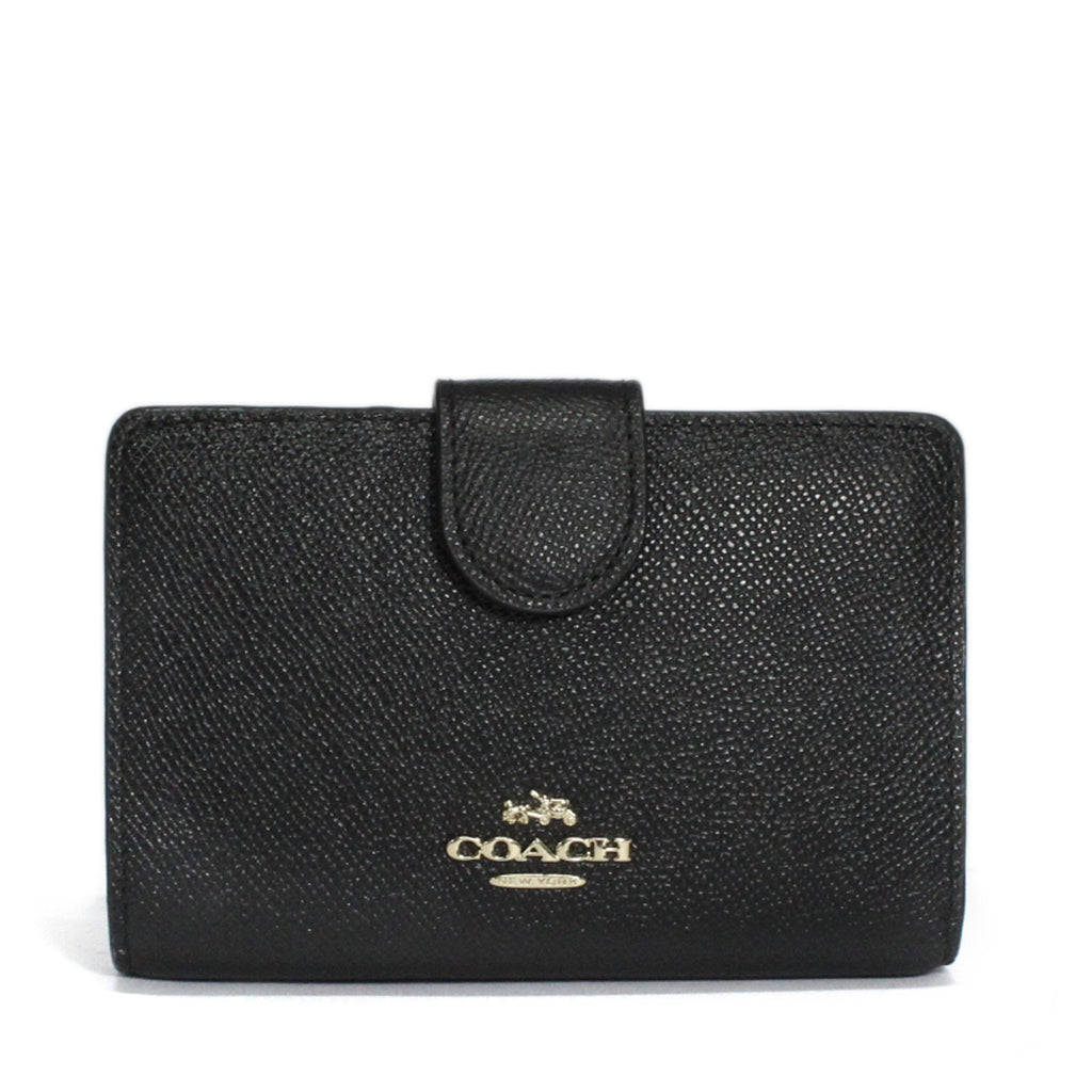 Coach Zip Around Wallet In Embossed Textured Cross-Grain Leather