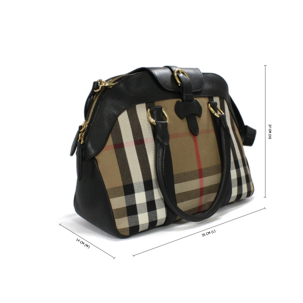 Burberry Milverton House Check Bowling Tote Bag