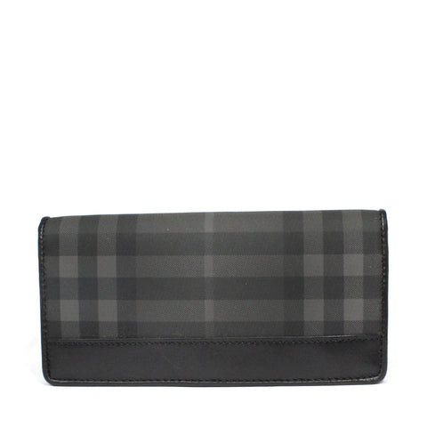 Burberry Beat Check Zipper Long Wallet