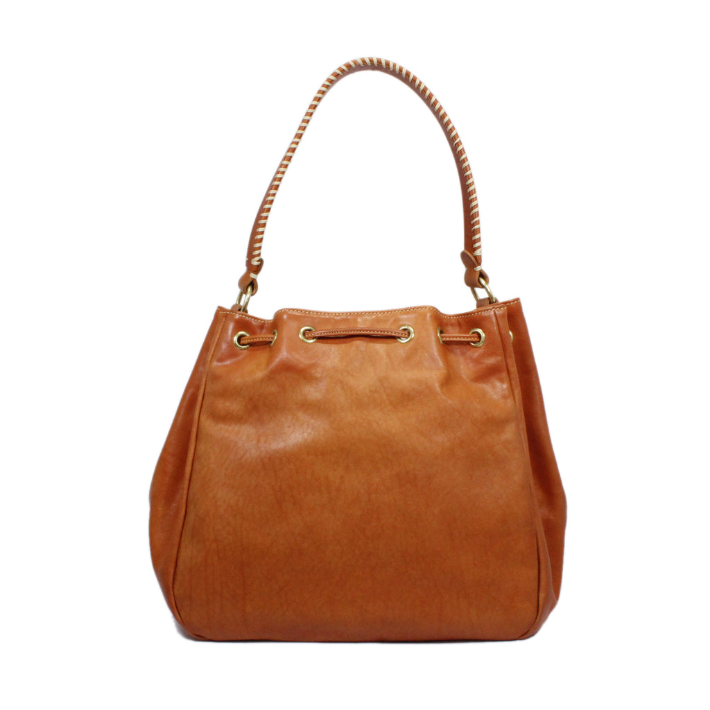 Il Bisonte Drawstring Satchel Bag