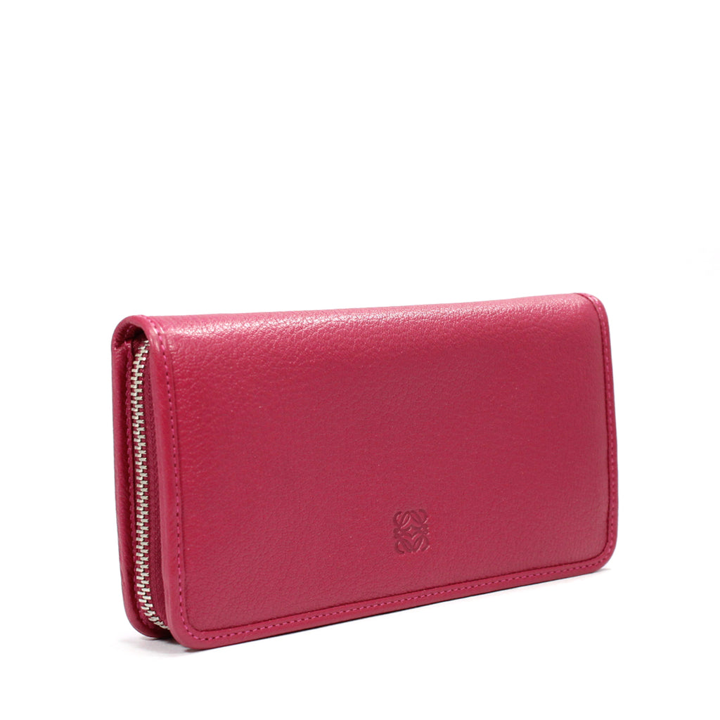 Loewe Amazona Zip Around Wallet In Textured Leather