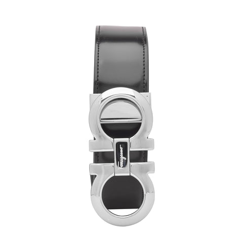 Ferragamo SS19 Black Leather Belt
