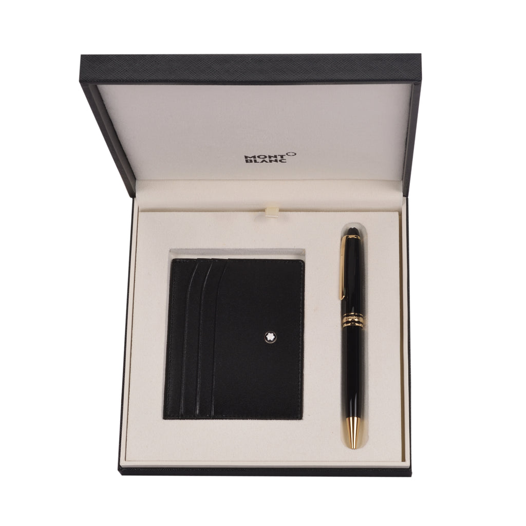 Montblanc Meisterstck Gold Classique Ballpoint pen and Pocket Ho