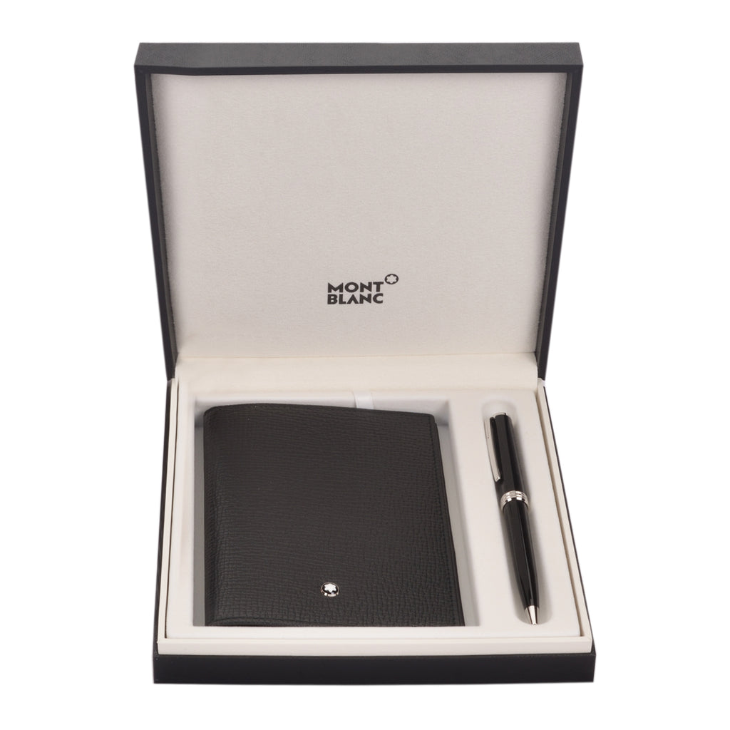 Montblanc Pix Black Ball Point Pen & Meisterstck Passport Holder