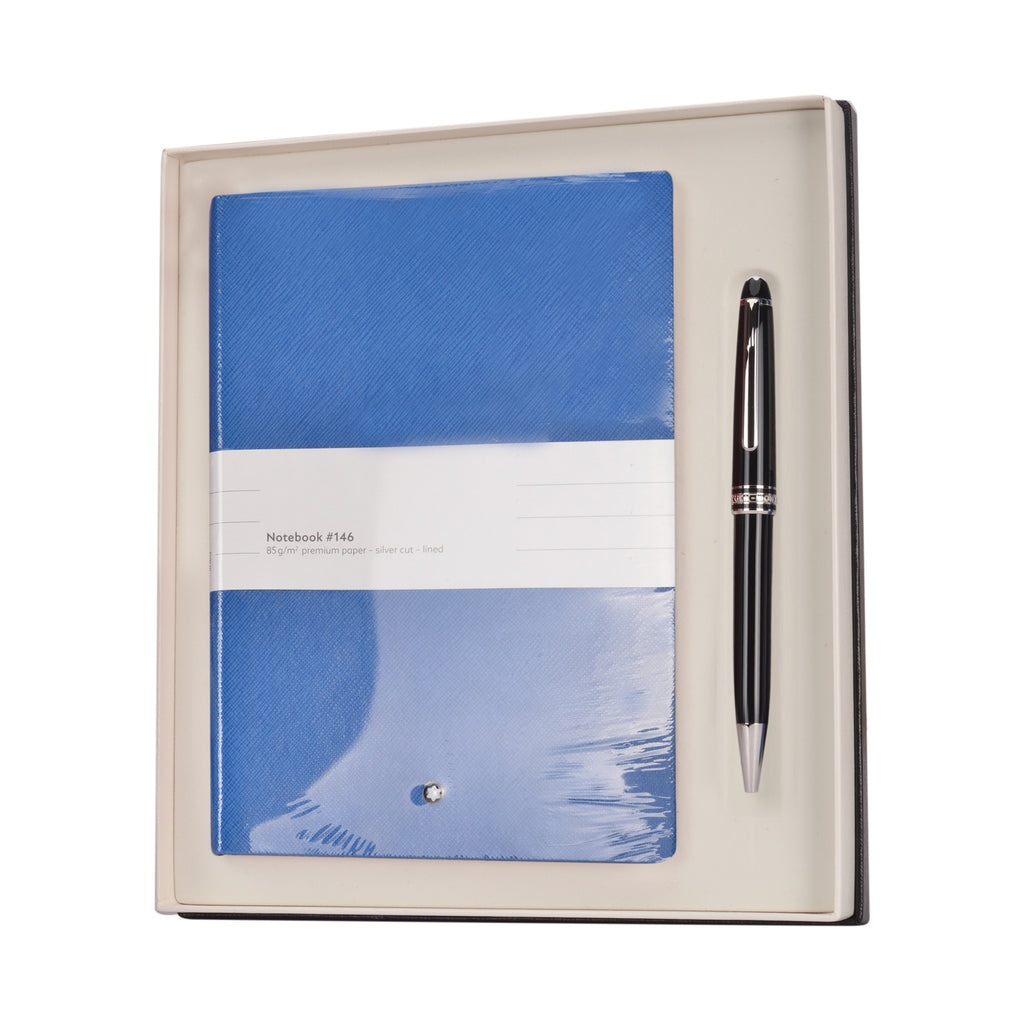 Montblanc Meisterstck Classique Platinum Ballpoint and  Technicolor Blue Note