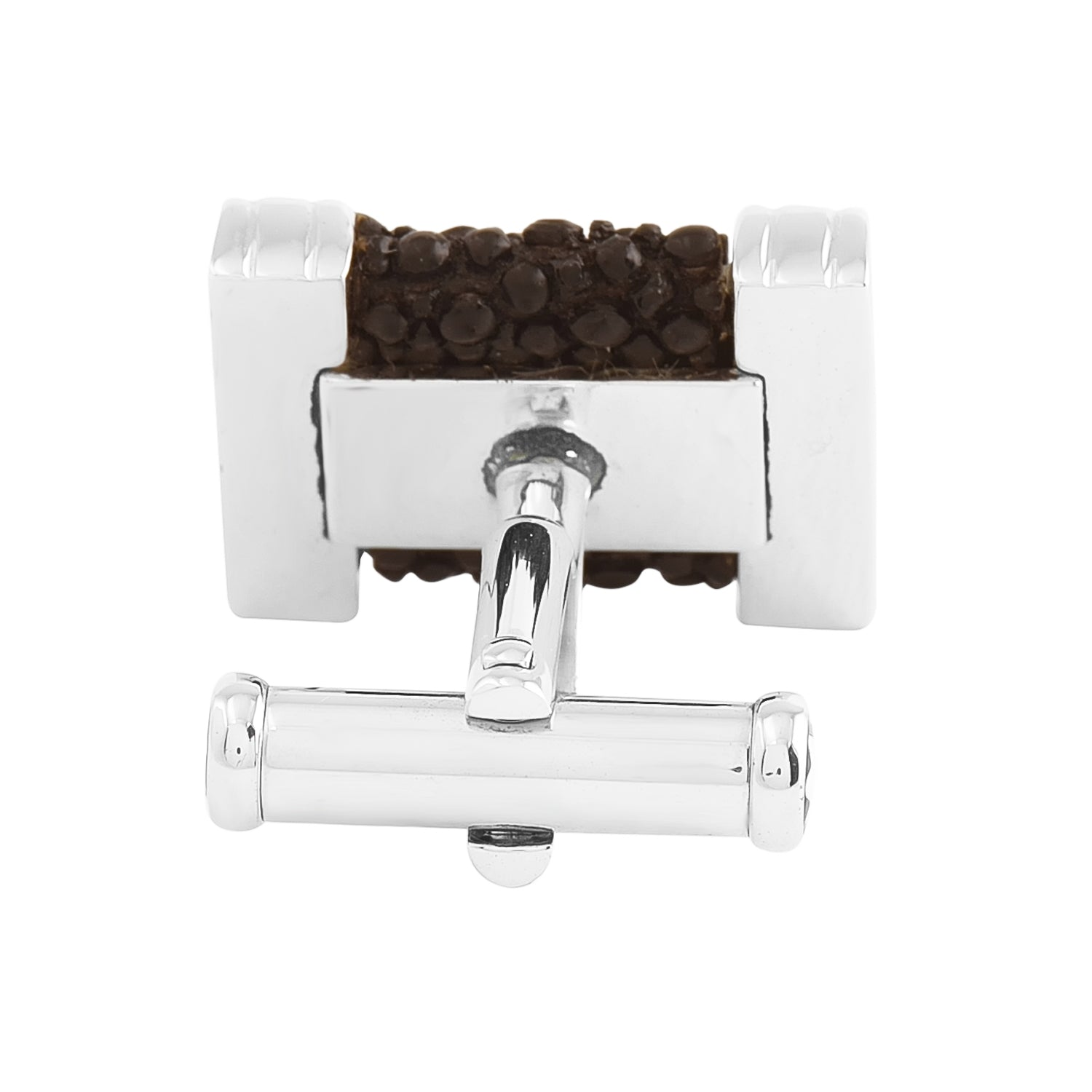 Montblanc Cufflinks Silver Collection Black Race