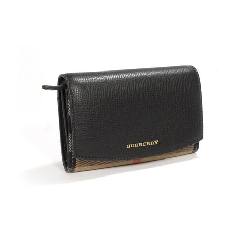 Burberry Black Wellington Derby Bi Fold Wallet