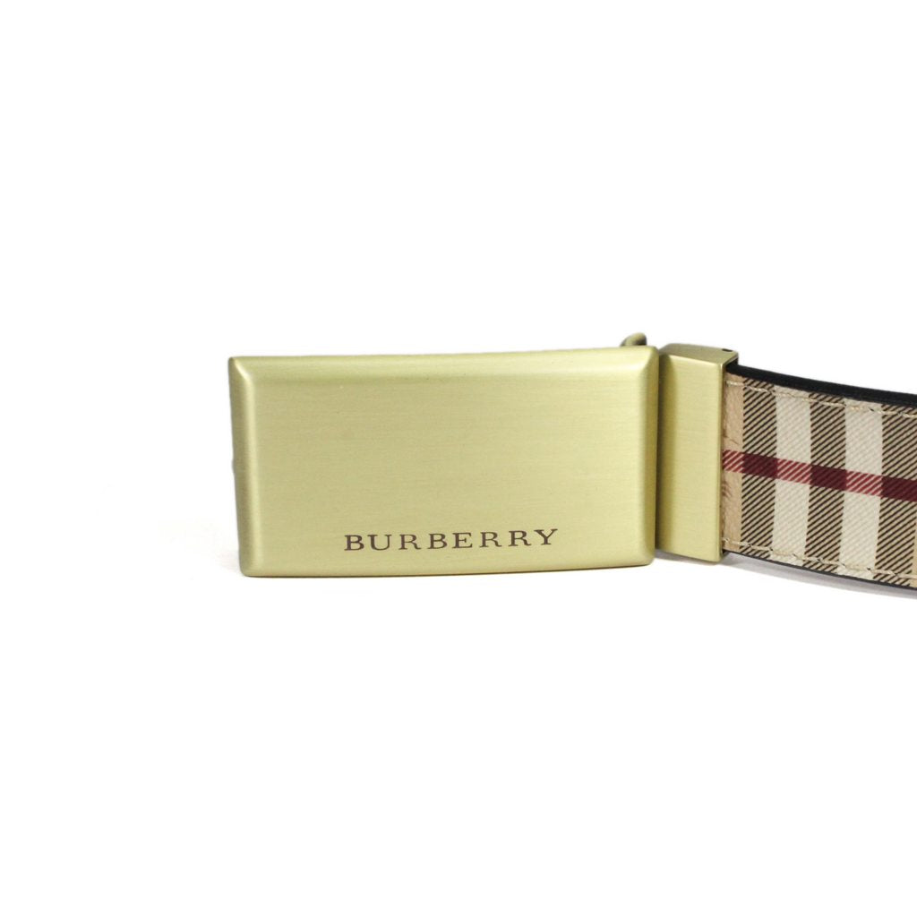 Burberry Haymarket Barnsfield Classic Check Plaque Belt