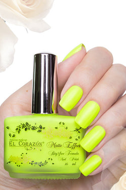 El Corazon Nail Polish Matte Effect Neon No.141 16 ml
