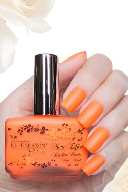 El Corazon Nail Polish Matte Effect Neon No.142 16 ml
